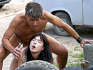 Chick Caught Masturbating Gets Fucked.