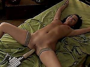 Sexy Bi-atch Frog-tied and Fucked By Gigantic Fake penis Here
