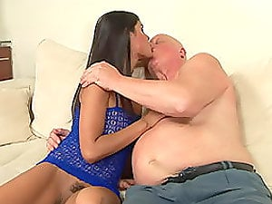 Old Man Gets Lucky With Nice Nubile
