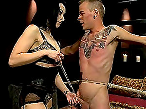 Mistress Bitch is tantalizing and abjecting youthfull boy