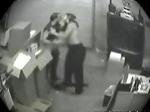 Fellatio Caught In Security Camera.