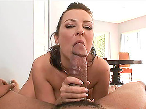 Hot wifey knows how to make her hubby jizz unconditionally,  a superb deep throat
