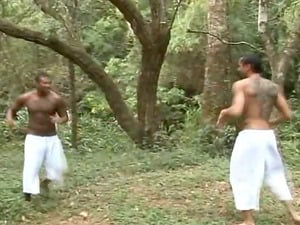 Deep in the jungle two smoking hot Mexican guys have rectal hook-up