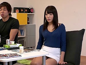 Sweater and a mini-skirt on the Japanese woman thrill him immensely