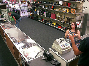 Dude at the pawn shot has a enormous dick to fuck this uber-cute inexperienced