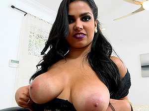 Penetrating a huge-chested Latina and her attractive friend