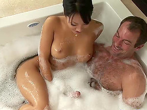 Sexy Masseuse Jacks And Slurps On A Customer's Hard Penis