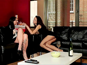 Salacious lesbos on liquor do it erotically you would wish to get featured