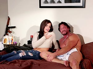 See our flick compilation of beautiful pornography starlets chortling and talking on-set