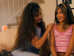 Enticing massaging is all it takes to turn the Asian teenage g/g