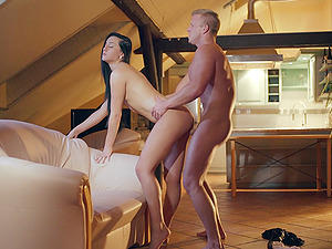 Fucking a hot cockslut from beinh after she blows his dick