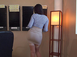 Mercedes Carrera and the magic of stockings and a garter belt