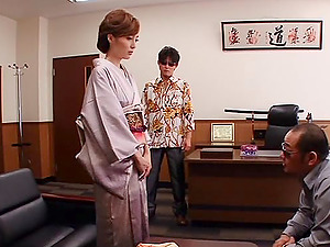 Conservative Japanese woman gets deepthroated and jizzed on