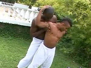 Fag black duo get bizarre in an orgasmic outdoors shoot