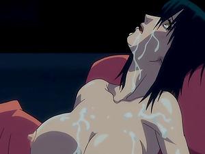 Manga porn dame covered in jizz