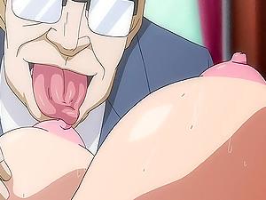 Manga porn college girl gets group-fucked