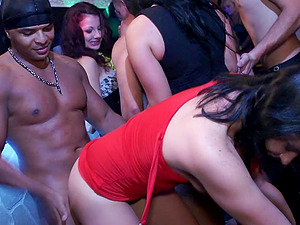 Dancing soiree women get horny for pulsating stripper shaft
