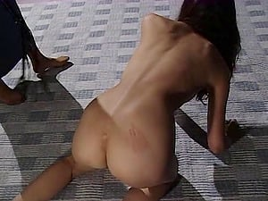 Requesting mistress pours hot paraffin wax all over her sexy Japanese marionette woman
