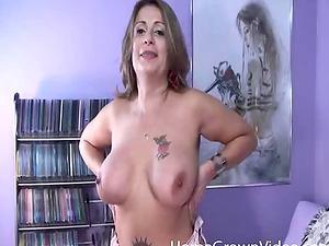 Homemade movie of a buxomy Latina mom on her knees providing a oral job