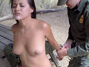 She bj's and fucks a border patrol man to get across the border
