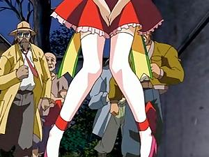 Anime porn ladies gets arse toyed