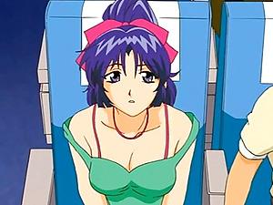 Anime porn bi-atch pleasing her master