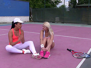 Muff diving teenies would rather have hump than have fun tennis