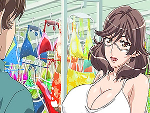 Large titted anime porn dark-haired