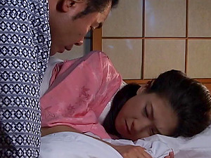 Japanese cougar in a kimono fucked by a rock hard hard-on