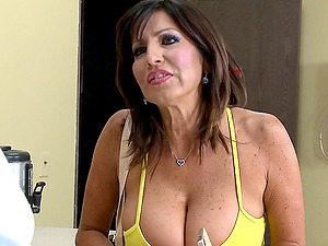 Mom with big jugs has a junior boy bang her deep and hard