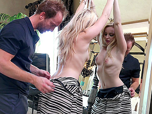 Alluring blonde whore deepthroats and gets fucked hard