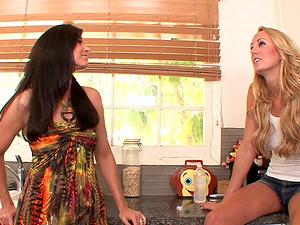 India Summer tempts Brett Rossi for girl/girl munching