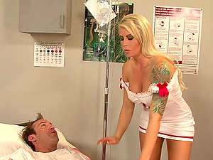 Provocative nurse with tattoos luvs her time with the hard-on