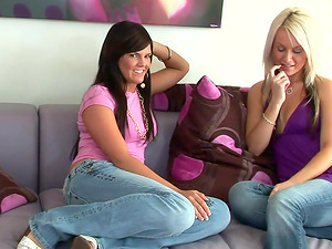 Sorority sisters de-robe off their jeans and get each other off
