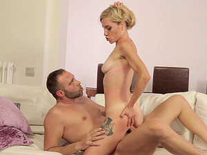Soft blonde hair is so sexy on this dick taking chick