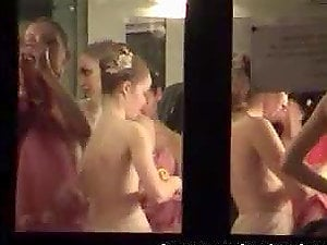 Dressing room hidden cam shots behind the curtain