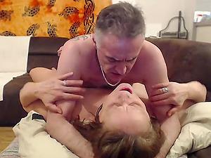Unexperienced Swiss Wifey Fucked On The Sofa