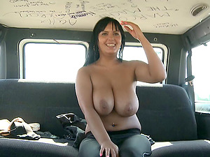 Fat bootie and titties on the hoe fucking in a van
