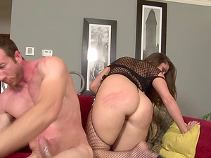 Fishnet underwear bombshell with a sexy fat bootie fucked hard