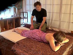Oil rubdown leaves her long-legged Japanese bod moist for dick