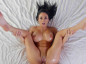 Big oiled boobies are breathtaking on the xxx ultra-cutie