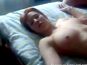 Amazing homemade threesome activity with whorey sandy-haired stunner