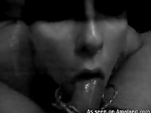 Homemade Point of view black & milky flick of awesome oral pleasure