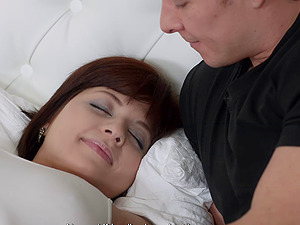 Nice redheaded GF tricked into fucking another stud