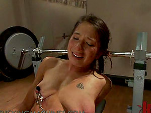 Super-cute Teenager Being Ploughed By Fucking Machine