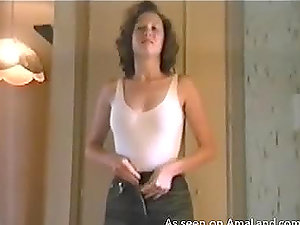 Very nice homemade flick of a slender lady getting disrobed