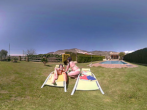 VR Pornography 360 Lezzy by the pool