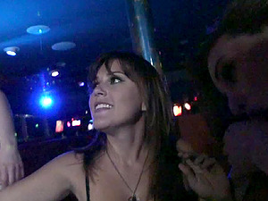 Horny senoritas got tipsy and determined to have a nightclub orgy