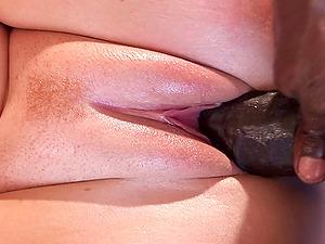 Monster black shaft penetrates Abbey's orgasmic pink slit