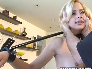 Sub cock-squeezing anal invasion throbbed gonzo harshly in Domination & submission porno